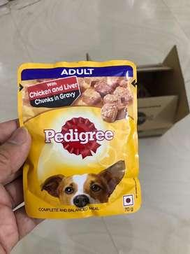 Pedigree chicken snd liver chunks in gravy 10pc (50₹ discount)