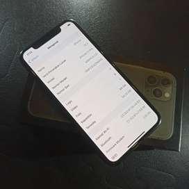 IPhone 11 pro 64GB midnight green fullset normal siap pakai