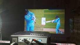 Interx live tv led projector 3d 4k full hd usb hdmi bigscreen152 incs