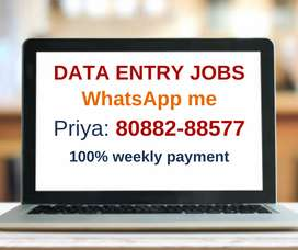 Earn Monthly 30,000 with simple home based data entry job.