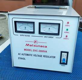 MATSUNAGA Stavol 3000 watt Servo Motor/Soft Start/Regulator/Stabilizer