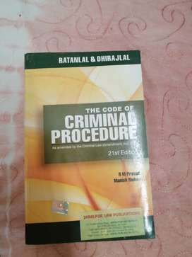 The Criminal Procedure Code - textbook by Ratanlal and Dhirajlal