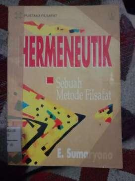 Dijual buku terbitan 1993 berjudul HERMENEUTIKA