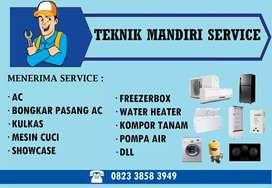 Service Ac Kulkas Mesin cuci Frezerbox, Isi freon AC Kulkas, Pasang Ac
