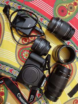 Canon 1500 d with three lens brand new condition