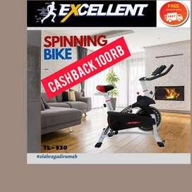 spinning bike total fitnes TL-930 G-82 II alat fitnes II treadmill
