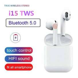 2019 Online Store I15 max earbud wireless stereo Bluetooth headset wit