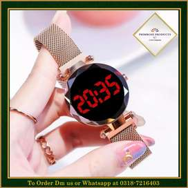 Gold LED Magnet Watch