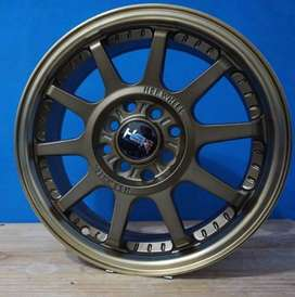 Jual velg racing Nissan March ring 15 tipe Gymkana HSR bronze