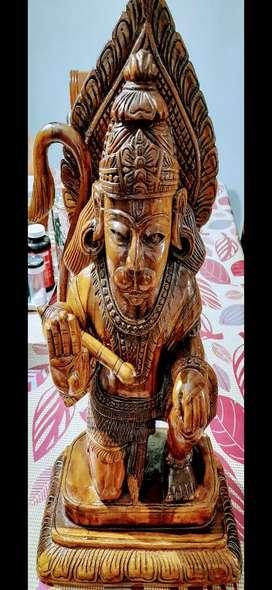 Teak Root Hanuman statue / Idol