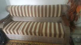 5 seater sofa set with glass table