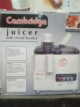 Cambridge juicer warrenty 2 years