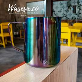 Milk jug rainbow 600ml/alat kopi/cappuccino