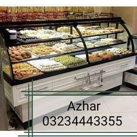 Printed Glass Bakery Counters