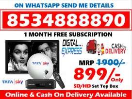 Tata Sky DTH Available In All India; Tatasky Airteltv Dishtv!