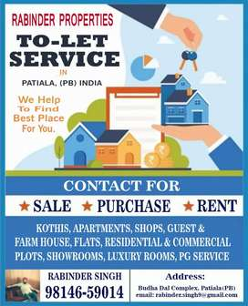To let service in Patiala 98146n59014