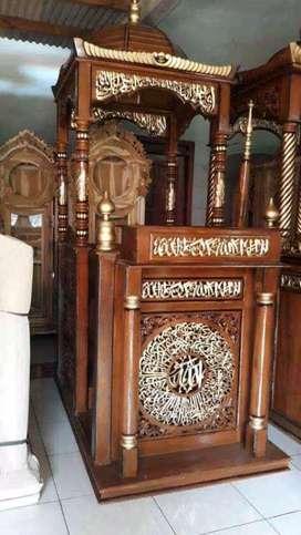 mimbar masjid kubah kayu jati 03