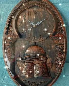 Jam dinding kaligrafi 160rb Ready Motif ukir timbul