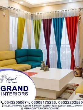 Curtains for your home by Grand interiors