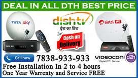 SPECIAL OFFER Dishtv Airtel tv Dish tv Tatasky Binge+ Tata sky