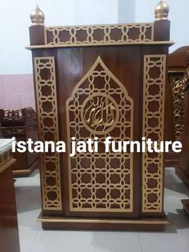 Ready stock mimbar masjid podium bahan kayu jati tua