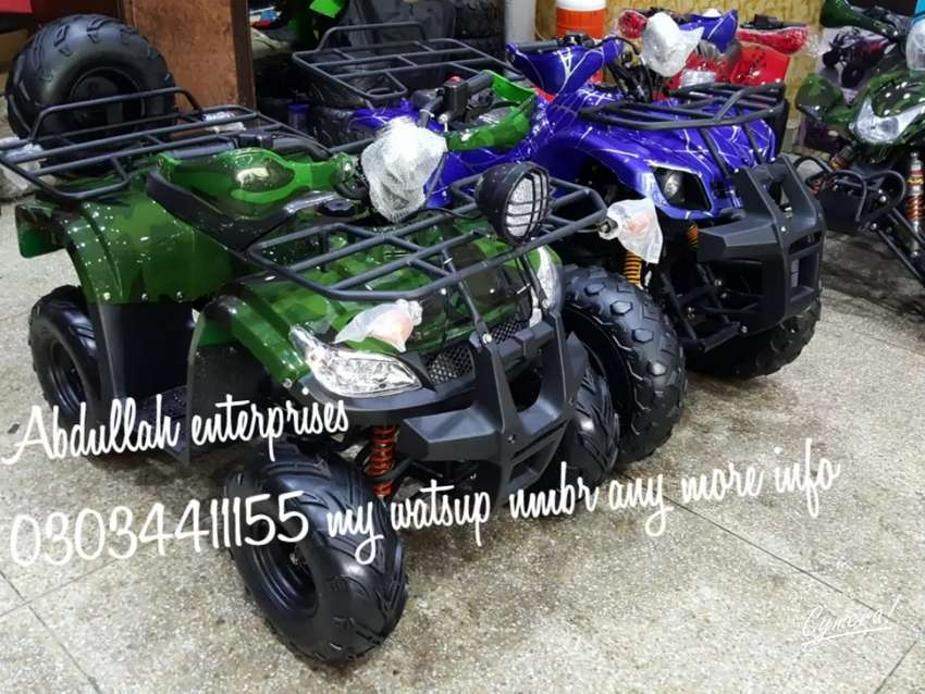 On road quad bike  4 wheels delivery all pakistan 0