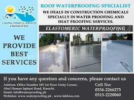 Roof Waterproofing, Roof Heat Proofing, Bathroom Tank Leakage, Seepage