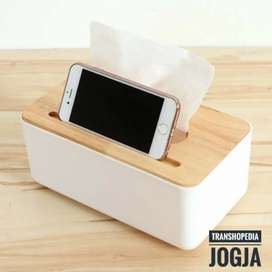 KOTAK TISU DENGAN SMARTPHONE HOLDER MOBILE AND TISSUE BOX