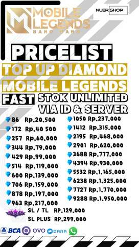 Fast Top Up Diamond Mobile Legends Fast  Starlight Plus
