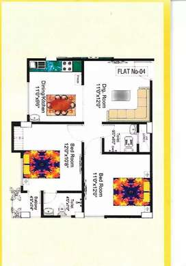 2 BHK Flat ready to move at 70 feet road off bypass