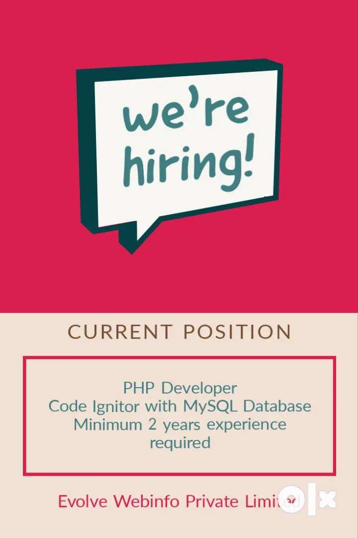PHP Developer, Code Ignitor with MYSQL Database 0