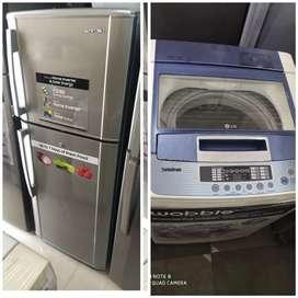 Double door fridge available with warranty