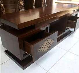 Bufet tv minimalis material kayu jati ajf42