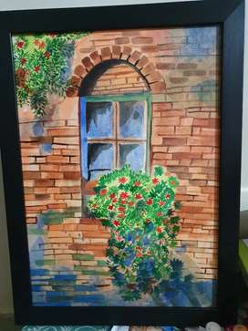 Painting of a window