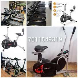 Gym cycle and cross trainer