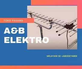 Pemasangan baru antena tv jonggol