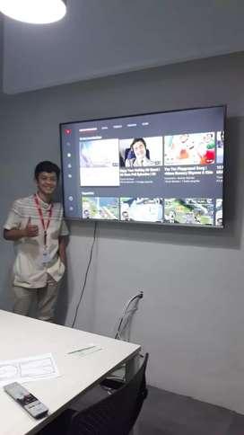 pasang jual BRACKET TV LED LCD untuk gantungan di dinding tembok