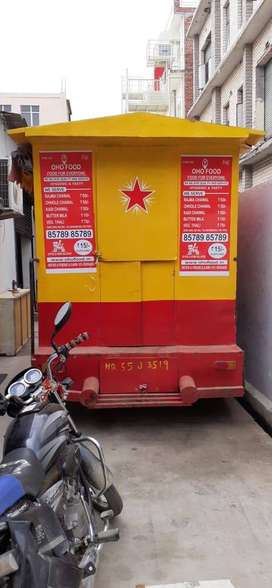 tata magic food van with 3 burner bhatti ready to use van