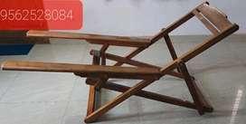 തേക്കിൽ ഉണ്ടാക്കിയ sling chair with good quality teak wood