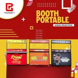 Booth Rombong Portable Display Usaha Kuliner Jawa Timur