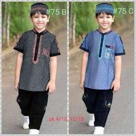 Baju Setelah muslim anak pria Umur 4 - 10 tahun Sangat menarik dan MUR