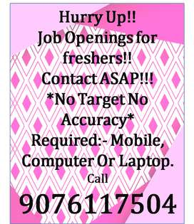 Genuine job available for all PART TIME WORK.