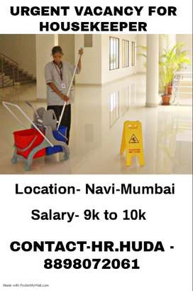 Urgently opening for Housekeeper