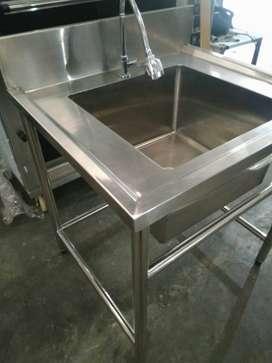 Meja Sink Stainless Steel Meja Cuci Piring Tahan Karat