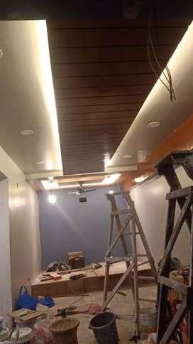 Four ceiling super gold Mal decoration pop