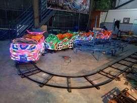 pancingan fiber air kereta rel bawah lantai mini roller coaster odong