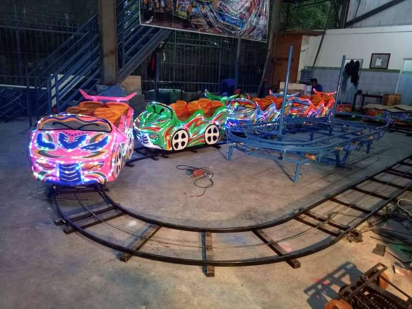 pancingan fiber air kereta rel bawah lantai mini roller coaster odong 0
