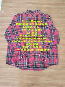 Baju kemeja flannel