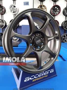 Velg mobil racing murah R16 HSR Sebunsuta Ring 16 Lebar 7 untuk Datsun
