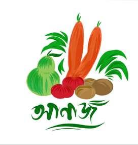 vegetables, groceries, fish, chicken etc.